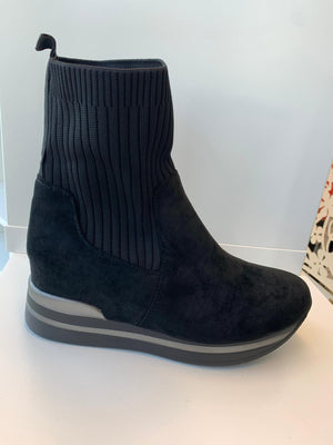 Luna  Sock Boots Black
