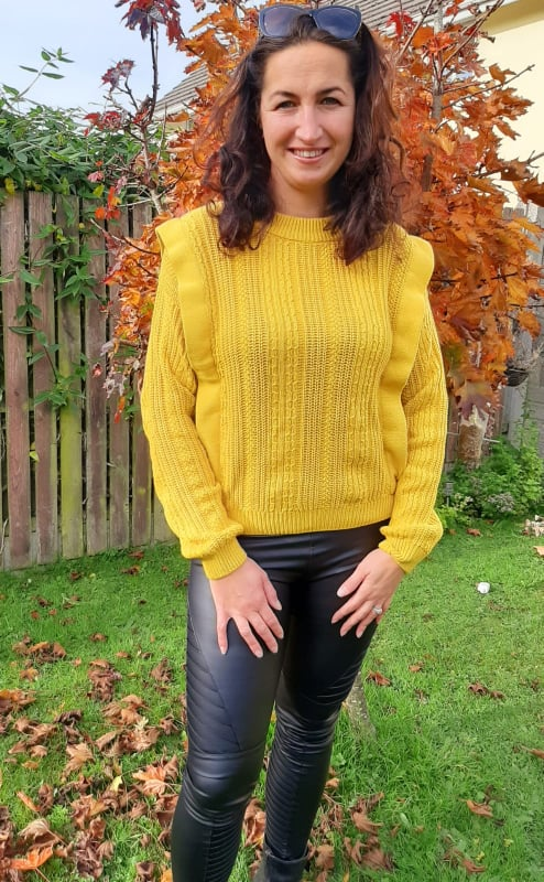 Oil Yellow Blendshe Knitwear