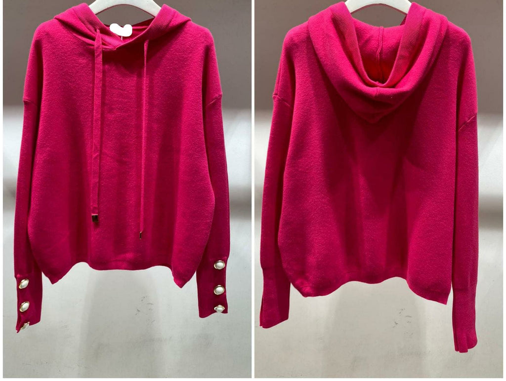 Rebekah Hooded Knit - One Size  Cerise(8-14)