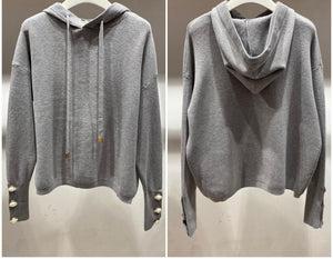 Rebekah Hooded Knit  - One Size(8-14)  Grey