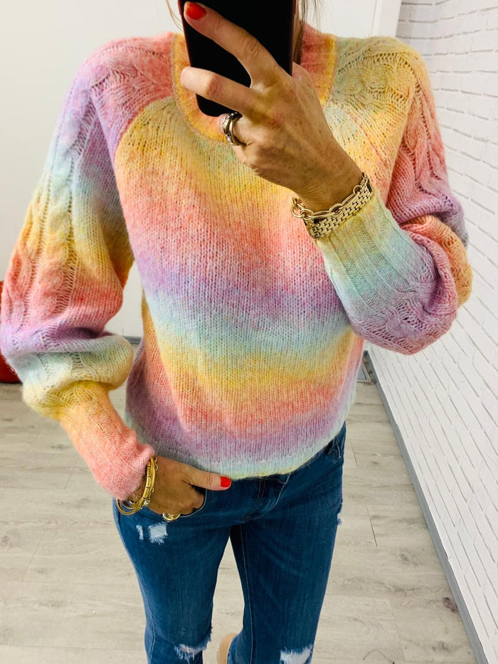 Kathy Multi Color Knit Sweater - One Size (8-12)