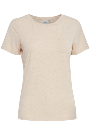 Ichi Short Sleeve Plain Basic T-Shirt with pocket - Tapoica