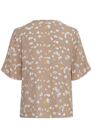ICHI BLOUSE WITH SHORT SLEEVE  Natural