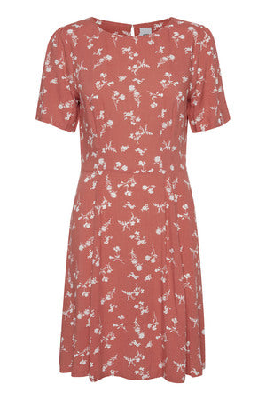 Ichi Kaitlinn Dress  Faded Rose