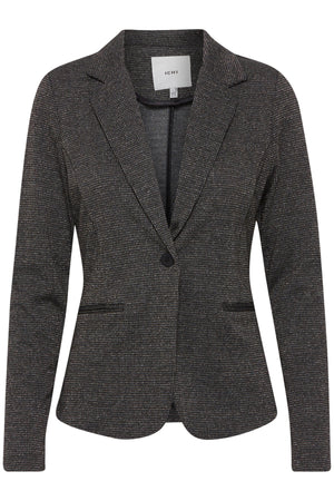 Tailored lapel Jacket Grey/Gold