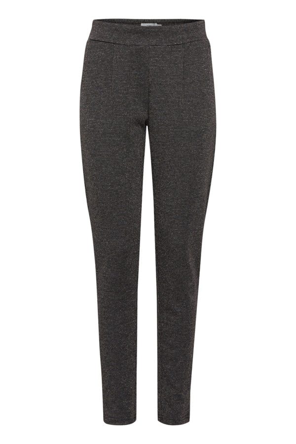 Grey & Pale Gold Ichi Suit Trousers