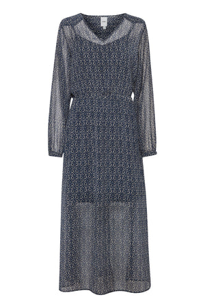 Ichi Total Eclipse Long Patterned Dress