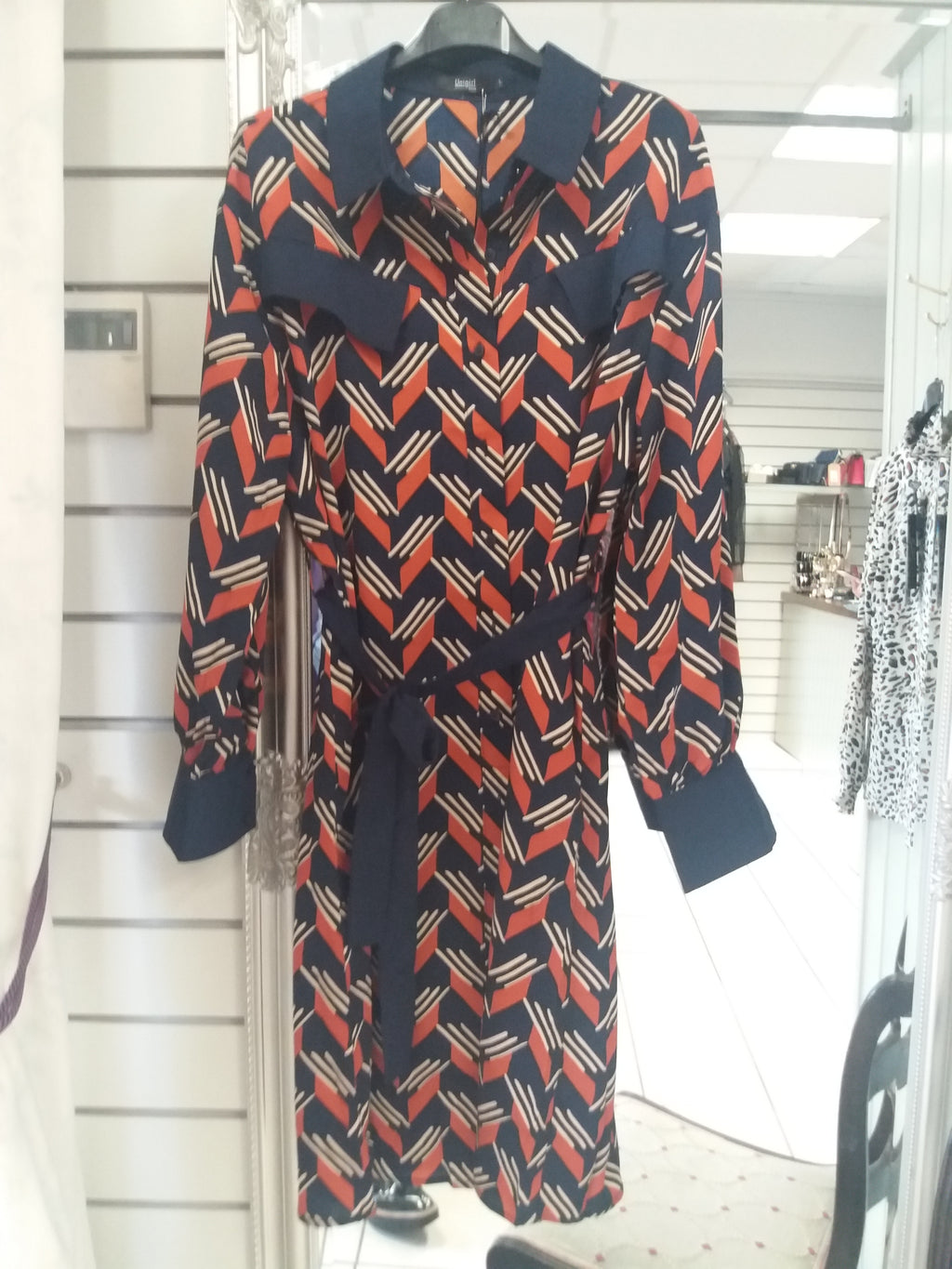 Unigirl Navy & Orange Check Day Dress X
