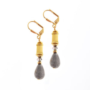 K Kajoux Jewels Grecian Grey Drop Earrings