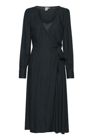Ichi Darkest Spruce Green Wrap Dress