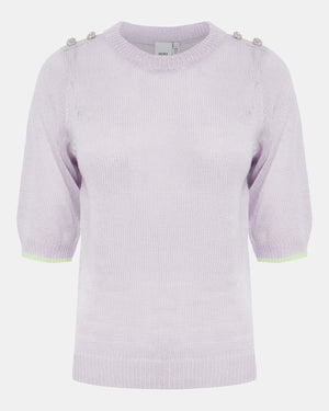 ICHI Laurel Knit Short Sleeve Sweater