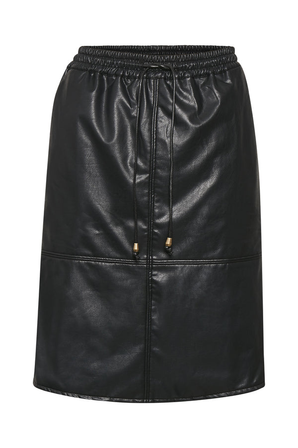Black Culture Short PU Leather Skirt