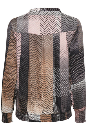 Culture Black Geometric Sahar Blouse