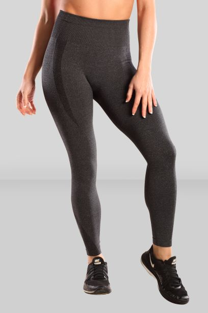 Fit Pink Seamless Compression Leggings in Charcoal