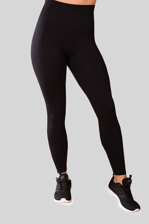 Fit Pink Seamless Compression Leggings in Black