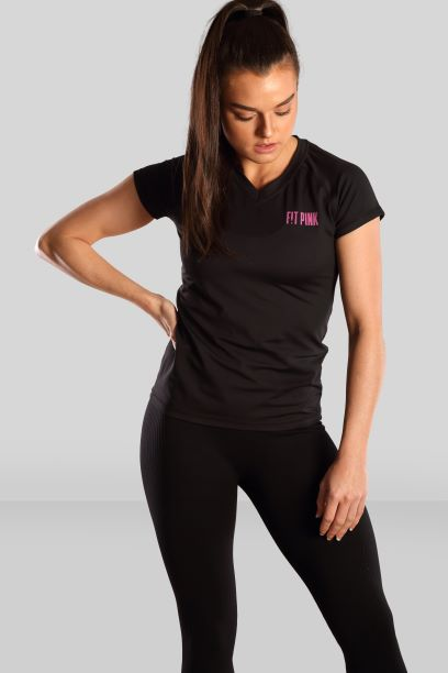 Fit Pink Active T-shirt in Black