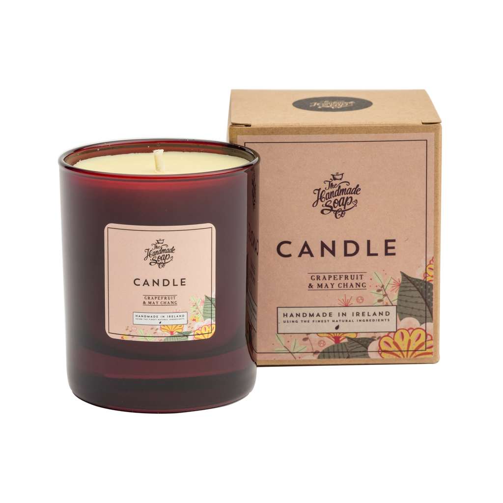 The Handmade Soap Co: Grapefruit & May Chang Soy Candle(190g)