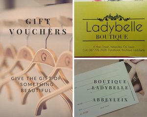 Gift Vouchers Ladybelle Boutique