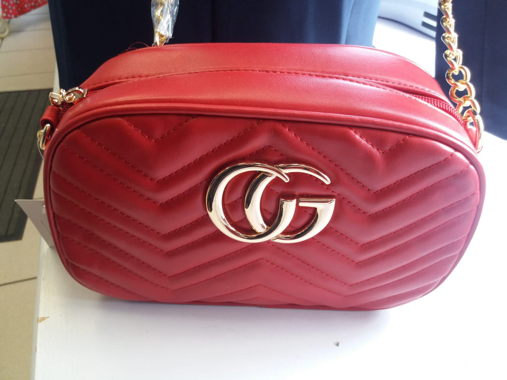 Red chevron G Bag