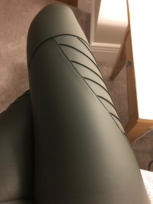 PIPPA KHAKI GREEN Biker Leggings