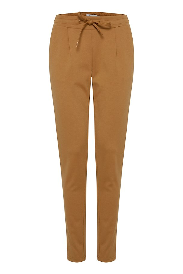 Ichi Jersey Pants - Tan Colour