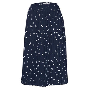 ICHI Total Eclipse Kalola Mid Heart Skirt