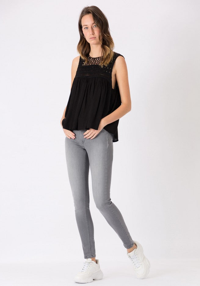 Tiffosi One Size Double Up Skinny-Grey