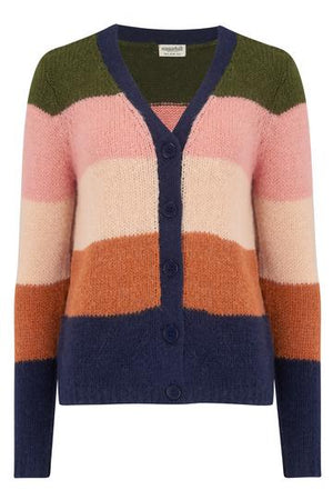 Tameka Block Stripe Multi Cardigan Sugarhill