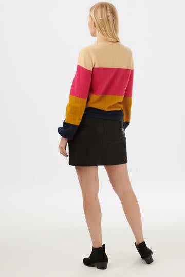 Zuri Block Stripe Sweater Sugarhill