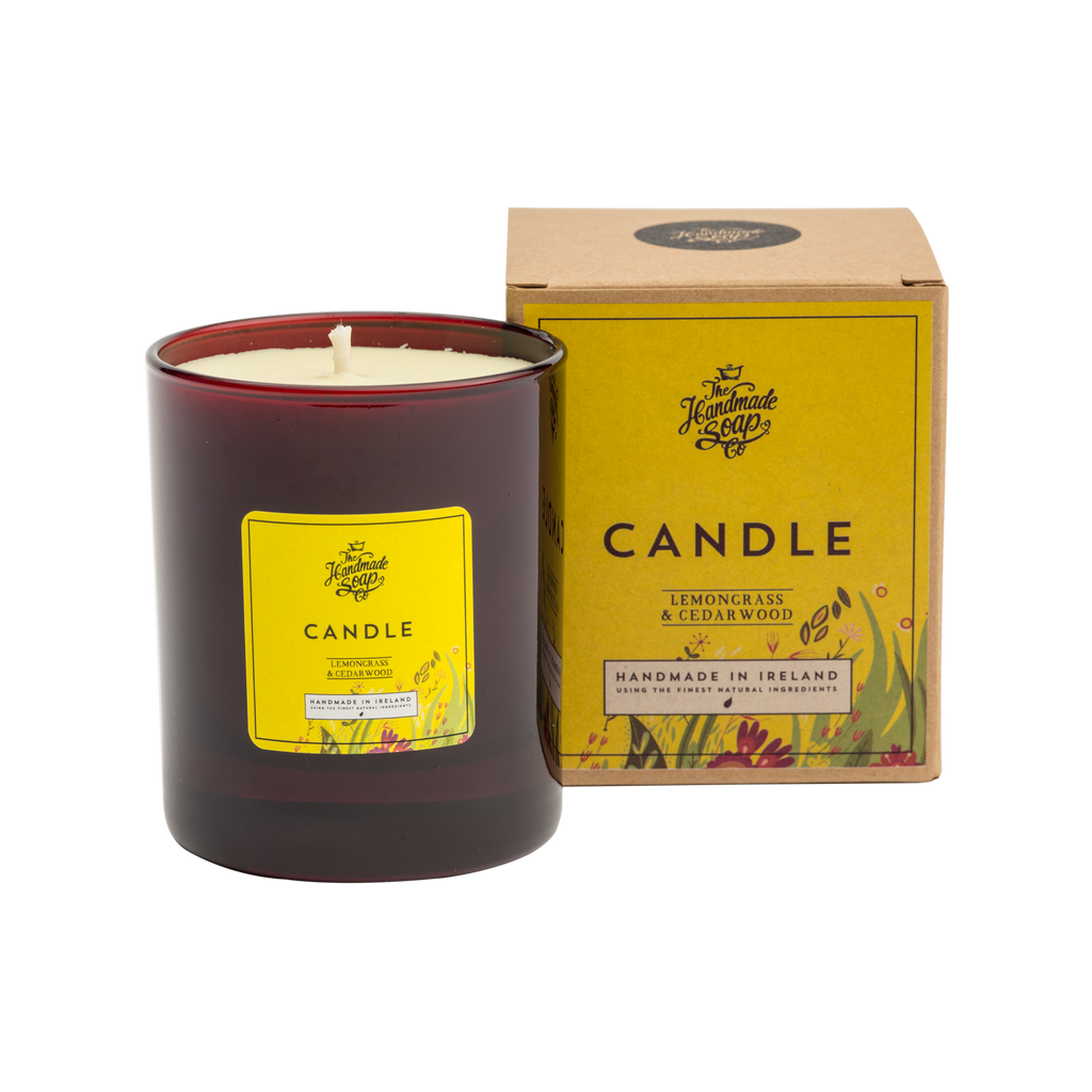The Handmade Soap Co; Lemongrass & Cedarwood Candle(190g)