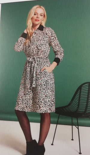 Paula Printed Shirt Dress