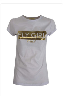 Fly Girl Italy Gold T-Shirt
