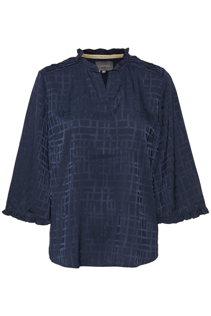 Culture Blouse Blue Iris