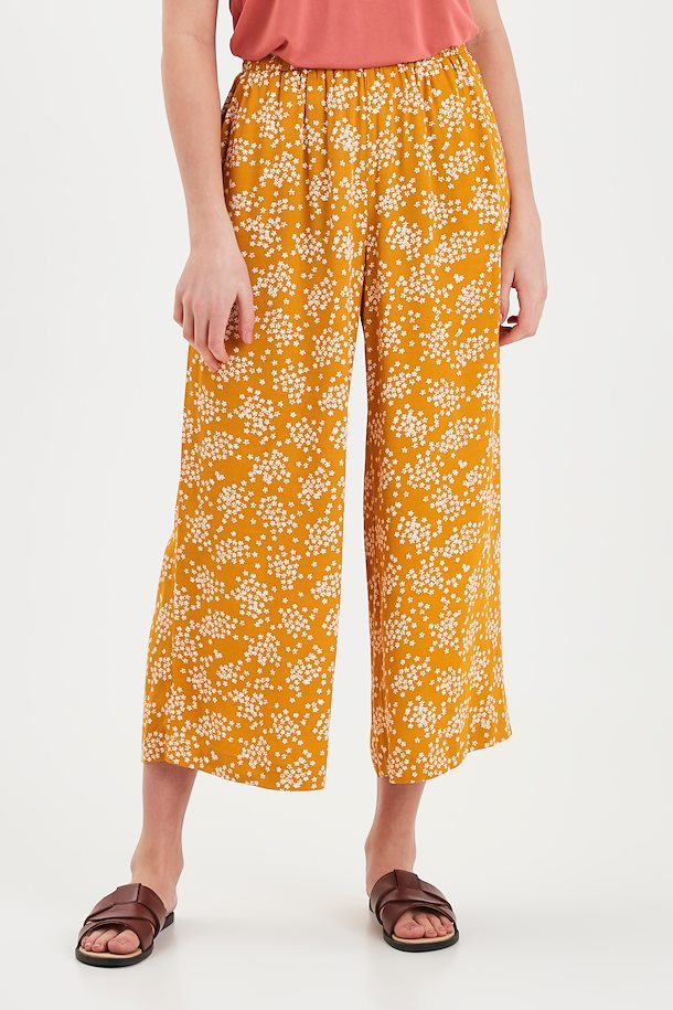 Ichi Casual Pants - Golden Yellow