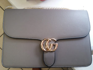 Grey Gucci Inspired Shoulder Bag