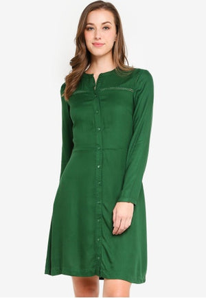 Ichi Dark Green Caterine Dress