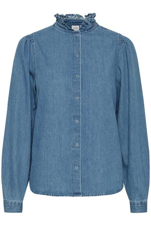 Long Sleeved Denim Shirt (Note Sizing)