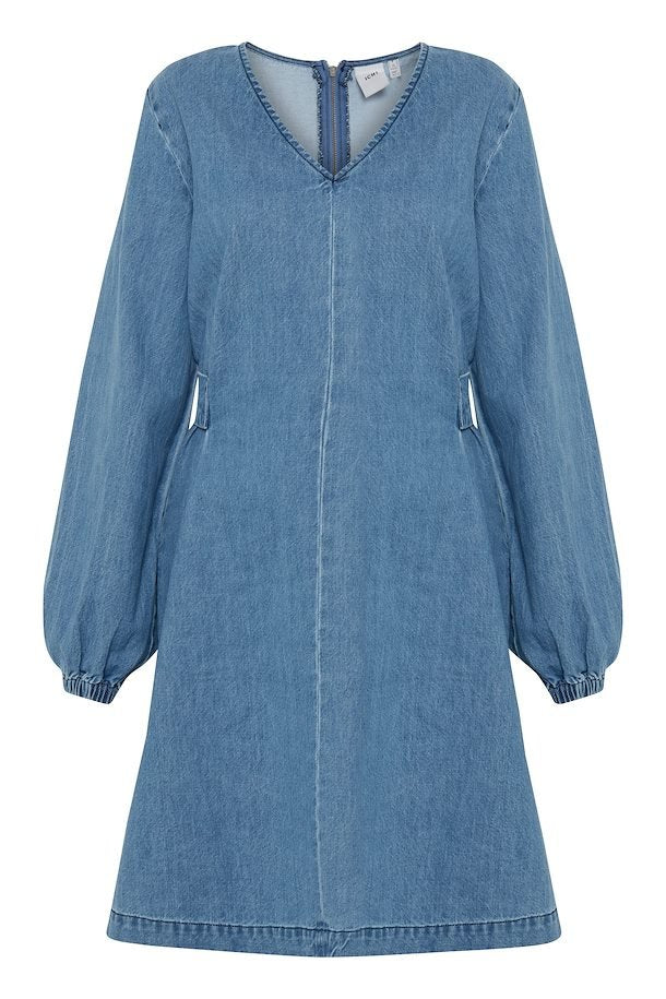 Ichi Stonewash Denim Dress