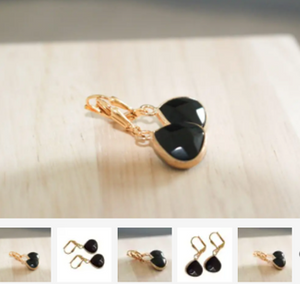 K Kajoux Jewels Midnight Jade Teardrop Earrings Short
