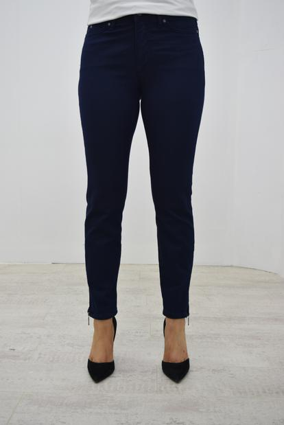 CRO Magic fit Jeans with Zips(Shorter 7/8 length)   -  Navy
