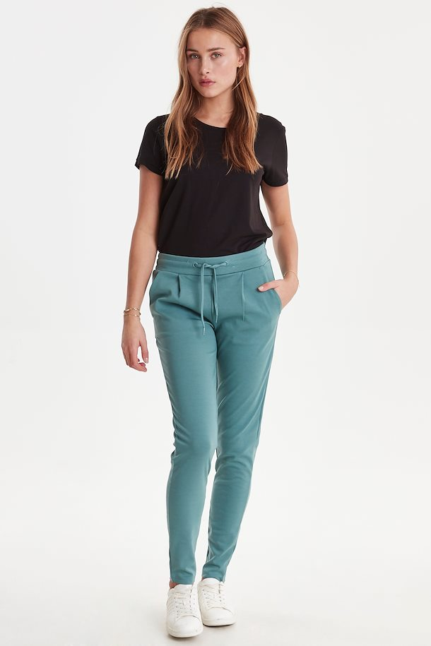 Ichi Jersey Pants  - North Atlantic Green