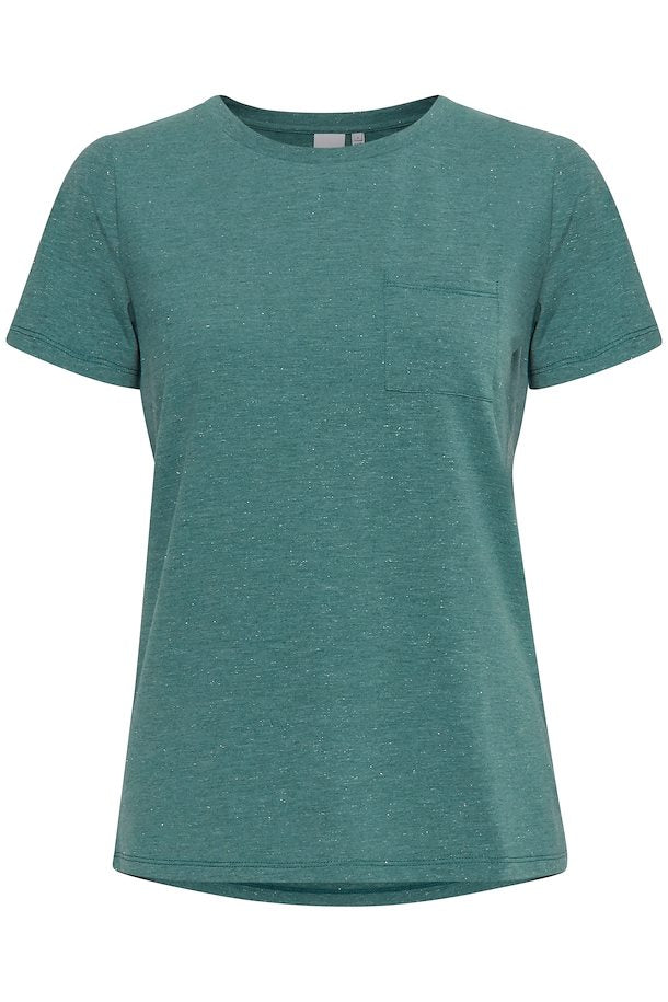 Ichi plain Basic  T shirt - Green