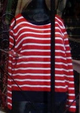 H2o Italia Stripe Knit Sweater Red/White/Navy     Teal/White/Blue