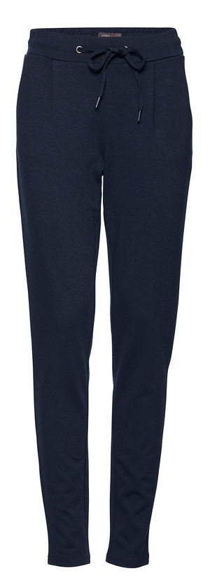 Ichi Navy fitted Jersey Pants