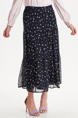 Ichi floral total eclipse skirt