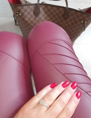 PIPPA WINE Biker Leggings