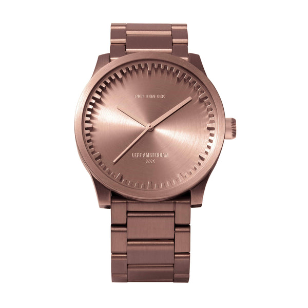 Tube S rose gold watch - Monochrome