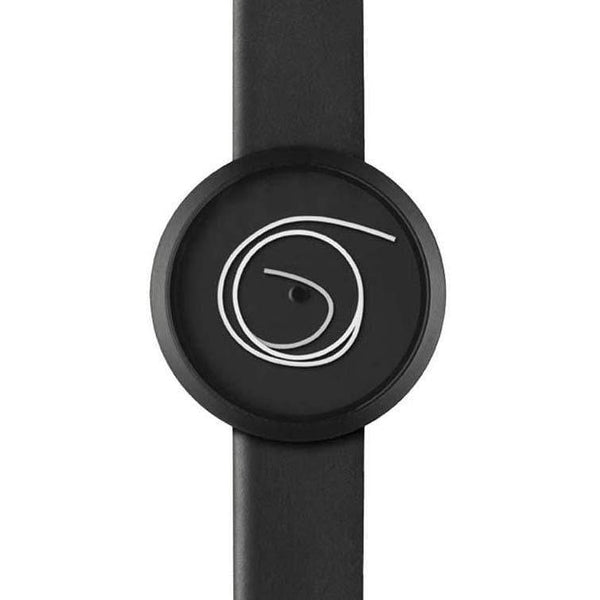 Ora Unica black wristwatch - Monochrome