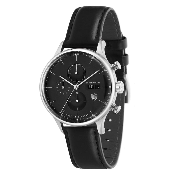 Van Der Rohe Barcelona black chronograph watch - Monochrome