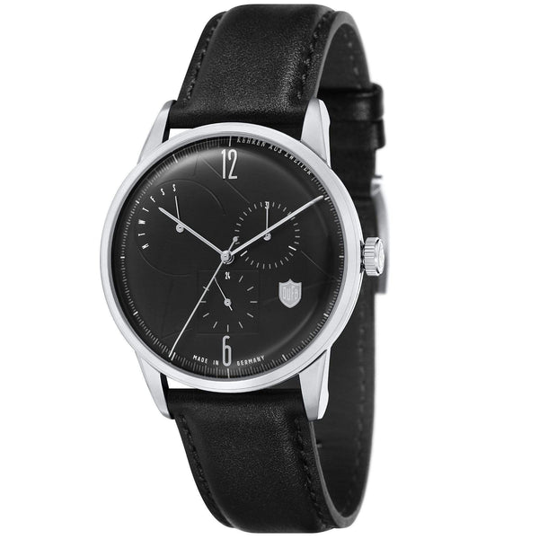 Weimar white calendar watch - Monochrome